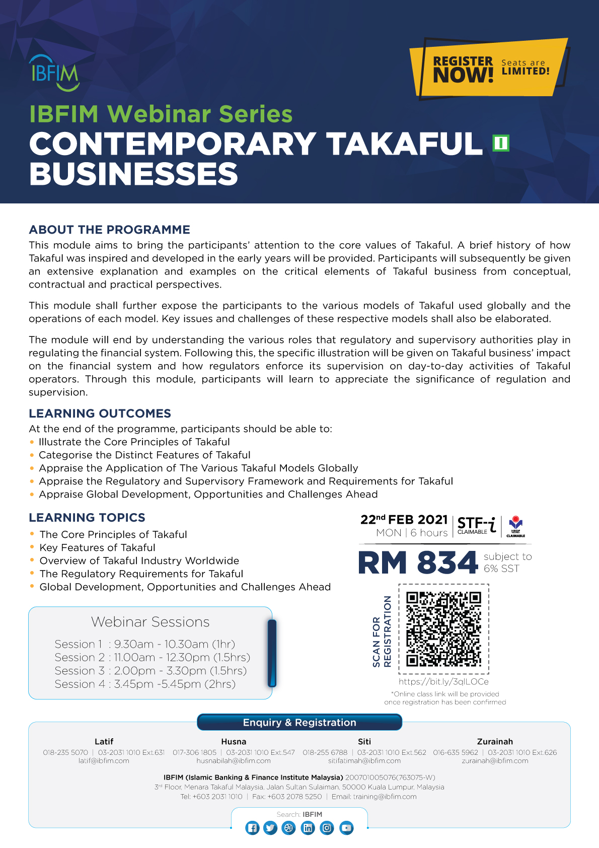 IQIF-Takaful M1 - Contemporary Takaful Businesses