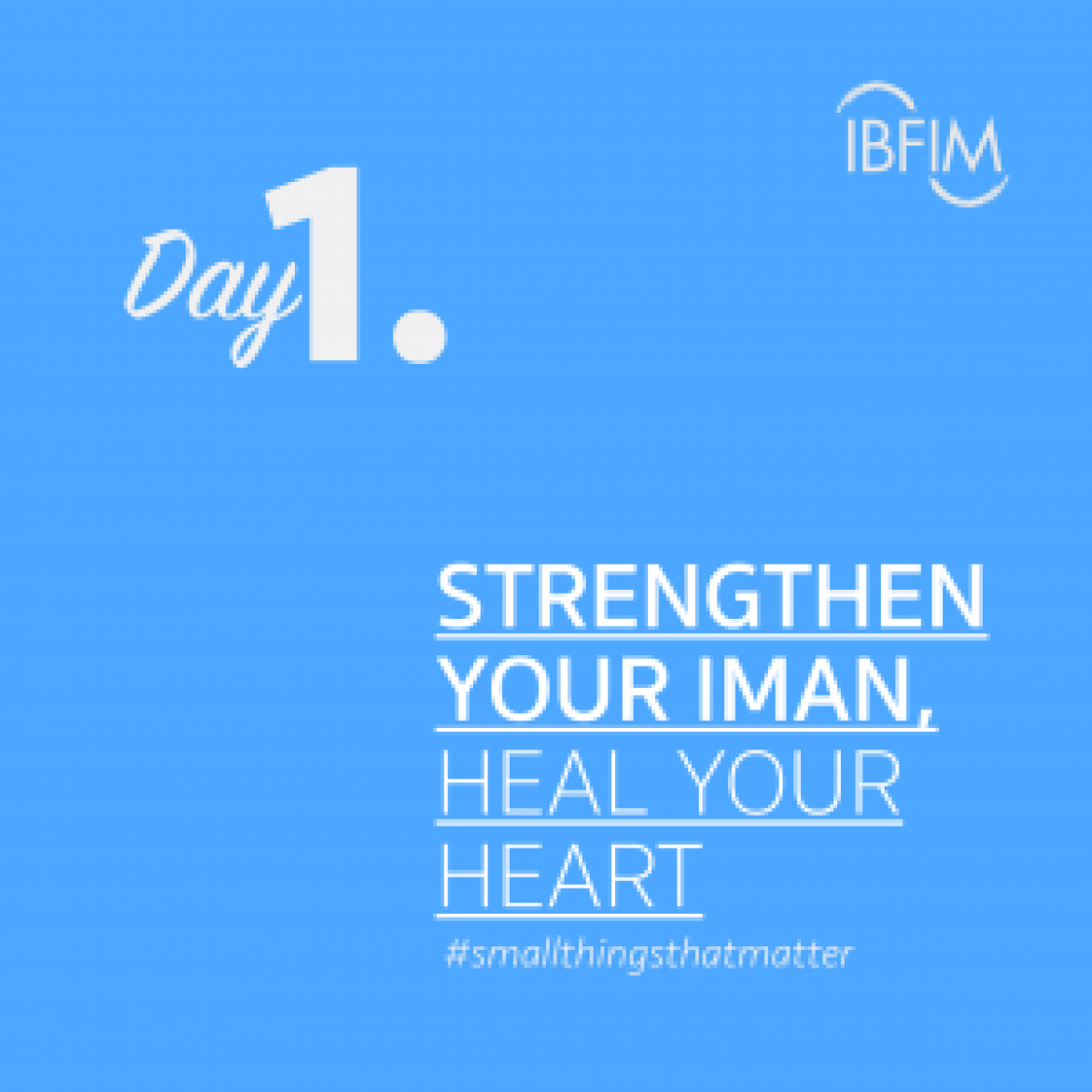 Ramadan Daily #smallthingsthatmatter
