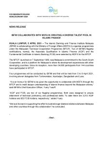 Press Release - IBFIM-MOFA-MTCP