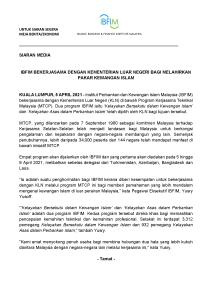 Siaran Akhbar - IBFIM-KLN-MTCP